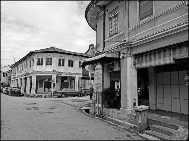 Chulia Lane Street View: Old Shophouses